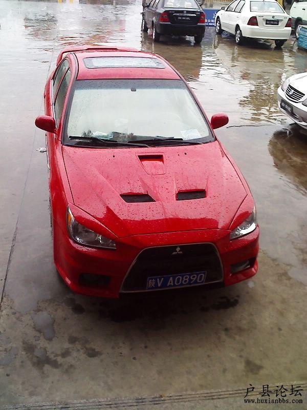 改装的红色三菱蓝瑟 户县车友会高清图片